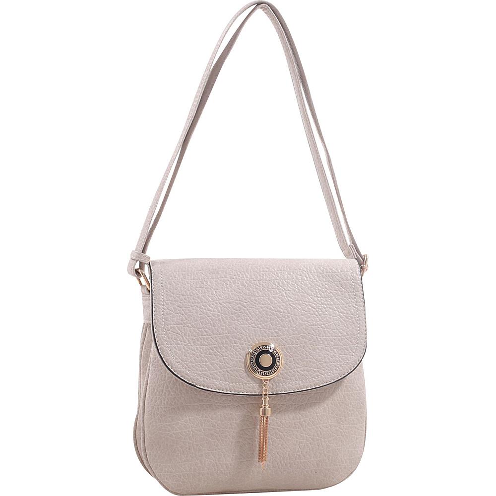 MKF Collection by Mia K. Farrow Isobel Saddle Cross Body Bag Beige - MKF Collection by Mia K. Farrow Leather Handbags - Handbags, Leather Handbags