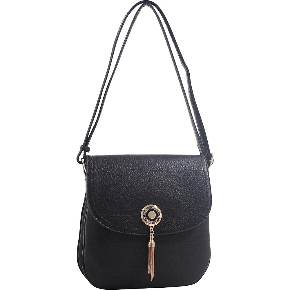 MKF Collection by Mia K. Farrow Isobel Saddle Cross Body Bag Black - MKF Collection by Mia K. Farrow Leather Handbags - Handbags, Leather Handbags