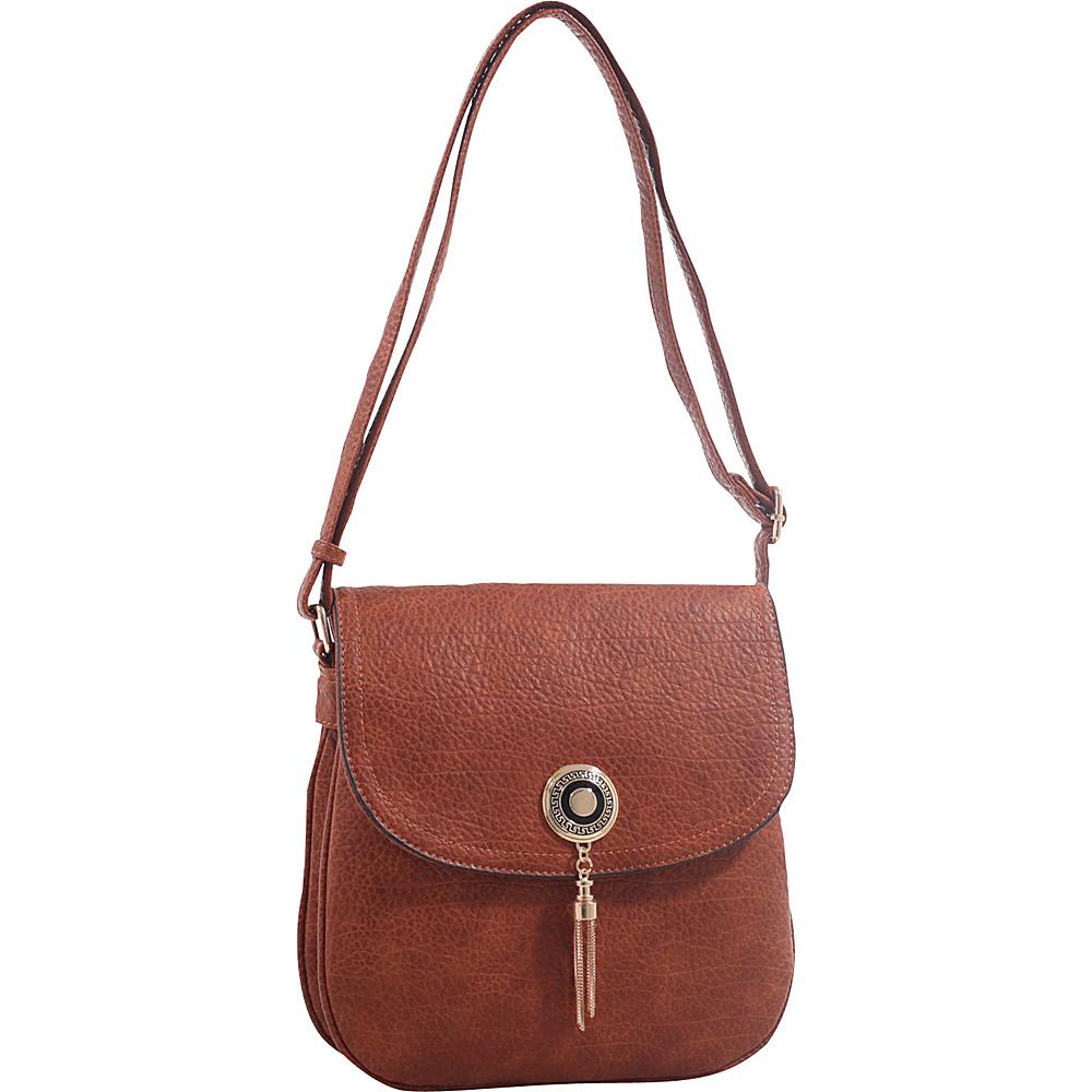 MKF Collection by Mia K. Farrow Isobel Saddle Cross Body Bag Brown - MKF Collection by Mia K. Farrow Leather Handbags - Handbags, Leather Handbags