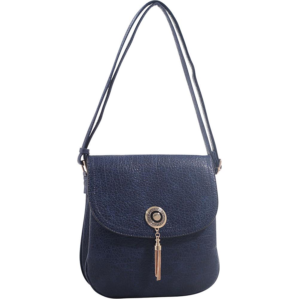 MKF Collection Isobel Saddle Cross Body Bag Navy - MKF Collection Manmade Handbags - Handbags, Manmade Handbags