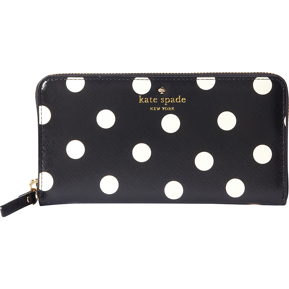 kate spade new york Cedar Street Dot Lacey Wallet Black Clotted Cream kate spade new york Women s Wallets