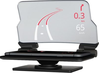 Hudway Glass Navigational Heads-Up Display Glass Black - Hudway Glass Car Travel