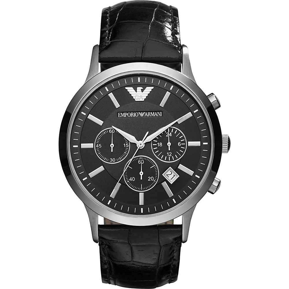 Emporio Armani Classic Chronograph Watch Black Emporio Armani Watches