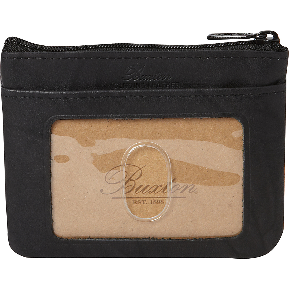 Buxton Heiress Pik-Me-Up I.D. Coin / Card Case Black - Buxton Womens Wallets - Women's SLG, Women's Wallets