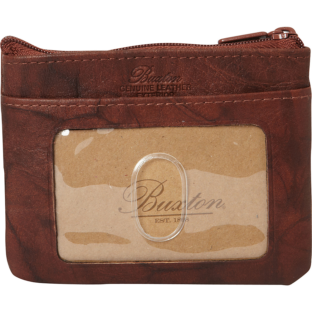 Buxton Heiress Pik-Me-Up I.D. Coin / Card Case Mahogany - Buxton Womens Wallets - Women's SLG, Women's Wallets