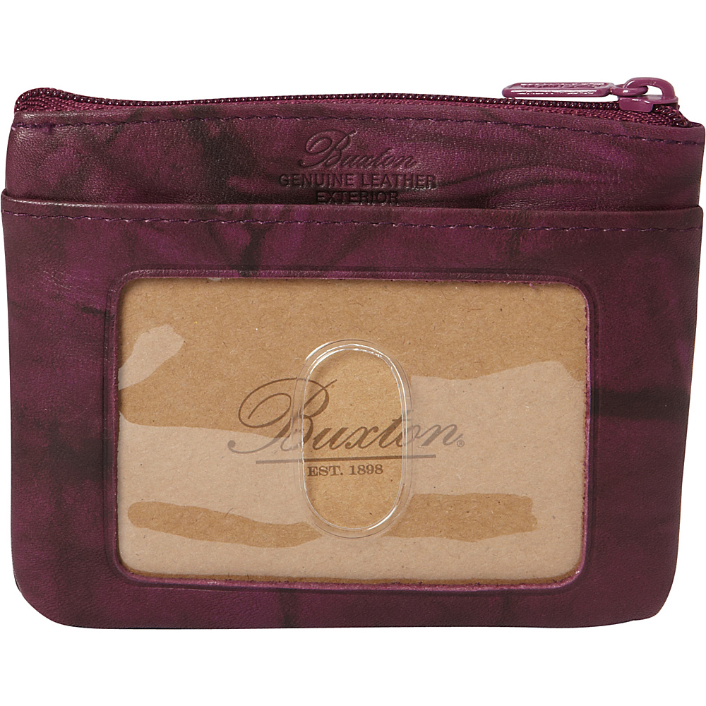 Buxton Heiress Pik-Me-Up I.D. Coin / Card Case Magenta Purple - Buxton Womens Wallets - Women's SLG, Women's Wallets