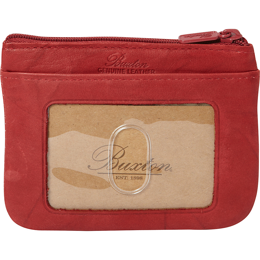 Buxton Heiress Pik-Me-Up I.D. Coin / Card Case Red - Buxton Womens Wallets - Women's SLG, Women's Wallets