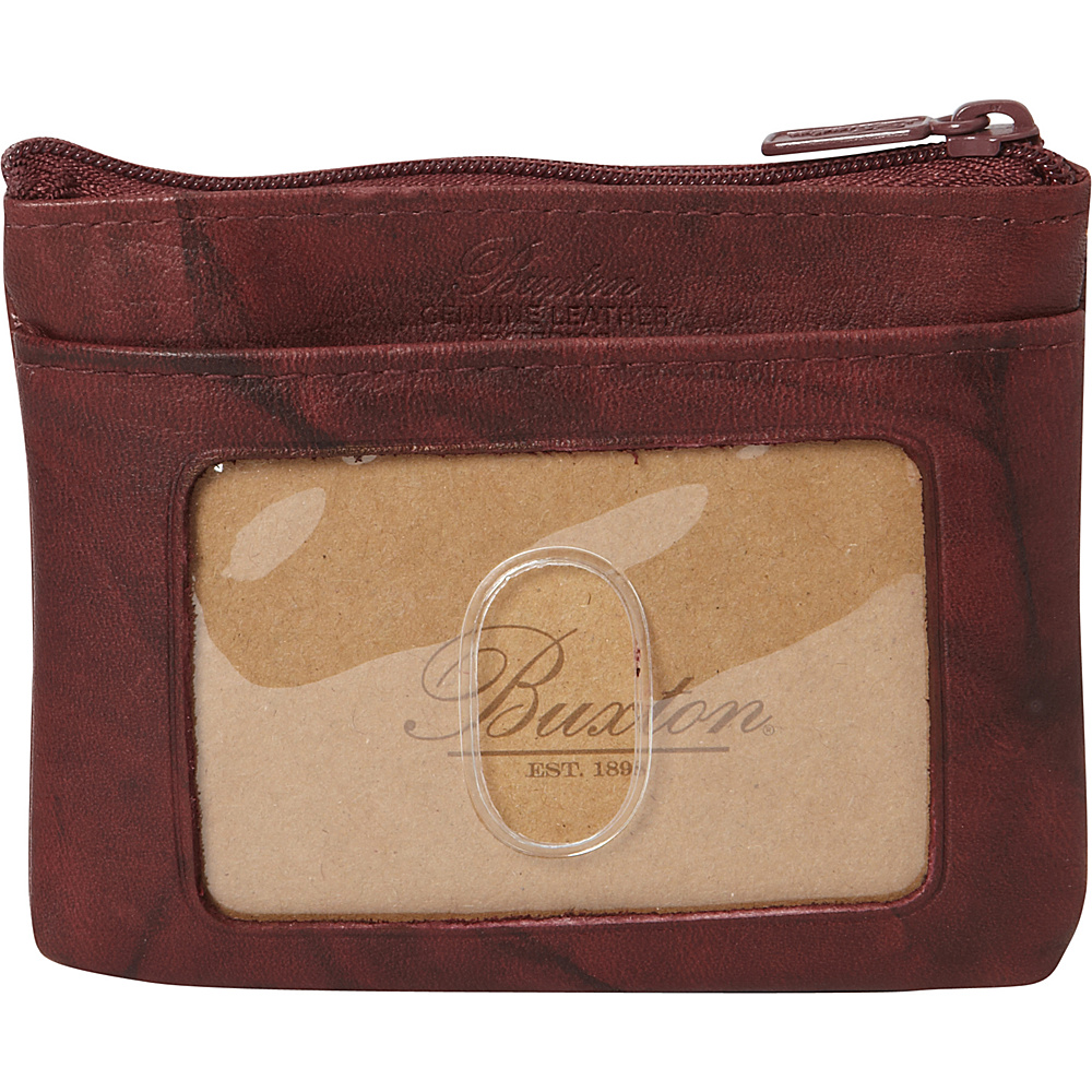 Buxton Heiress Pik-Me-Up I.D. Coin / Card Case Burgundy - Buxton Womens Wallets - Women's SLG, Women's Wallets