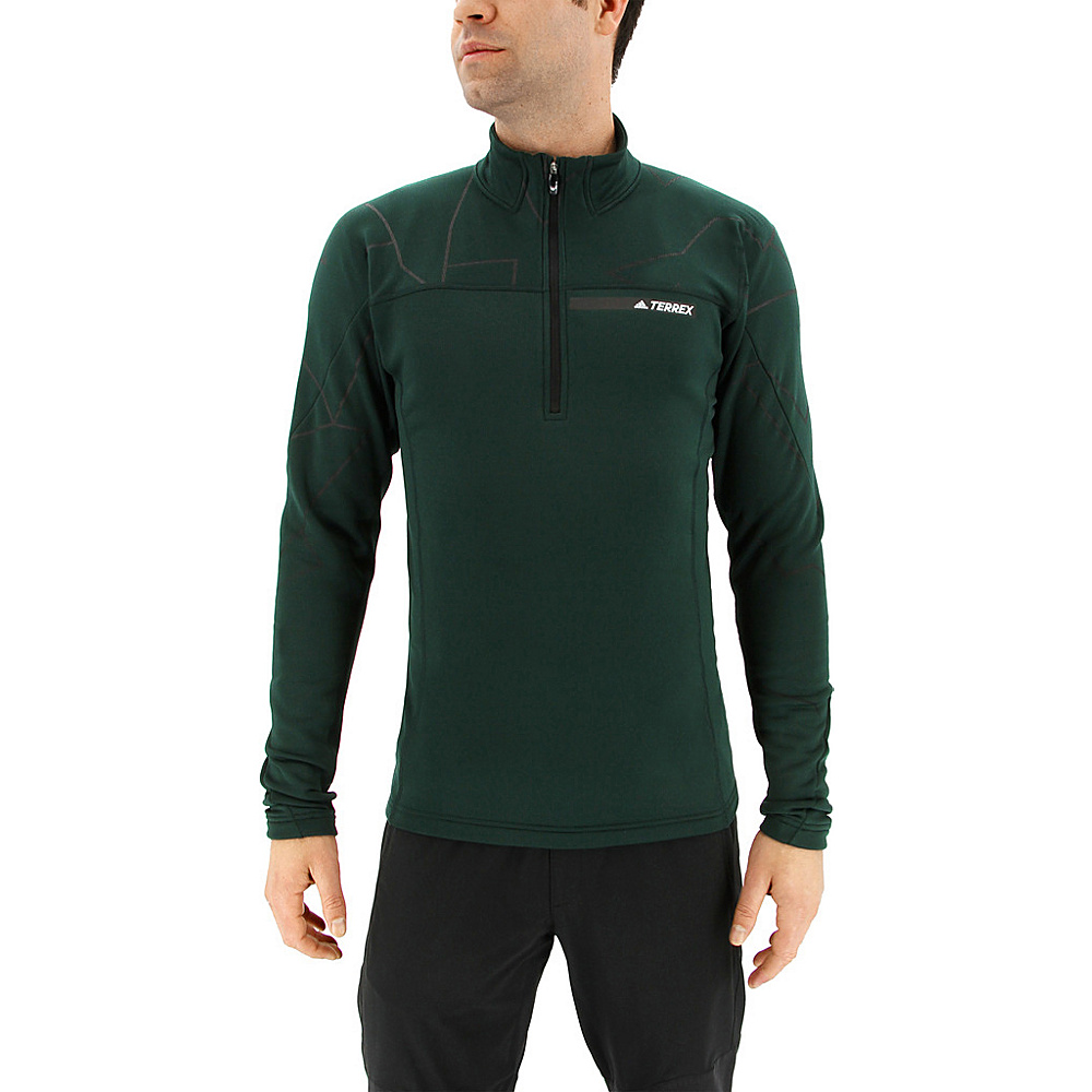 adidas outdoor Mens Terrex Icesky Longsleeve II L - Green Night - adidas outdoor Mens Apparel - Apparel & Footwear, Men's Apparel