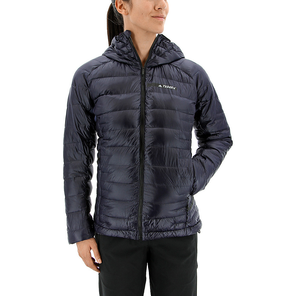 adidas outdoor Womens Terrex Climaheat Agravic Hooded Down Jacket S - Noble Ink - adidas outdoor Womens Apparel - Apparel & Footwear, Women's Apparel