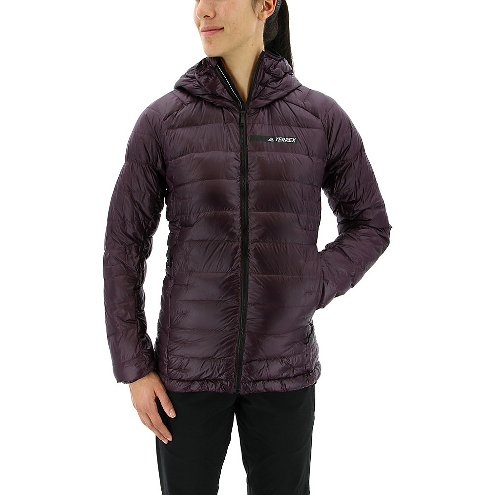 adidas outdoor Womens Terrex Climaheat Agravic Hooded Down Jacket S - Red Night - adidas outdoor Womens Apparel - Apparel & Footwear, Women's Apparel