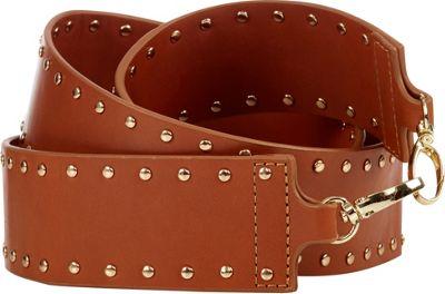 Davey's Handbag Guitar Strap Studs Brown - Davey's Leather Handbags