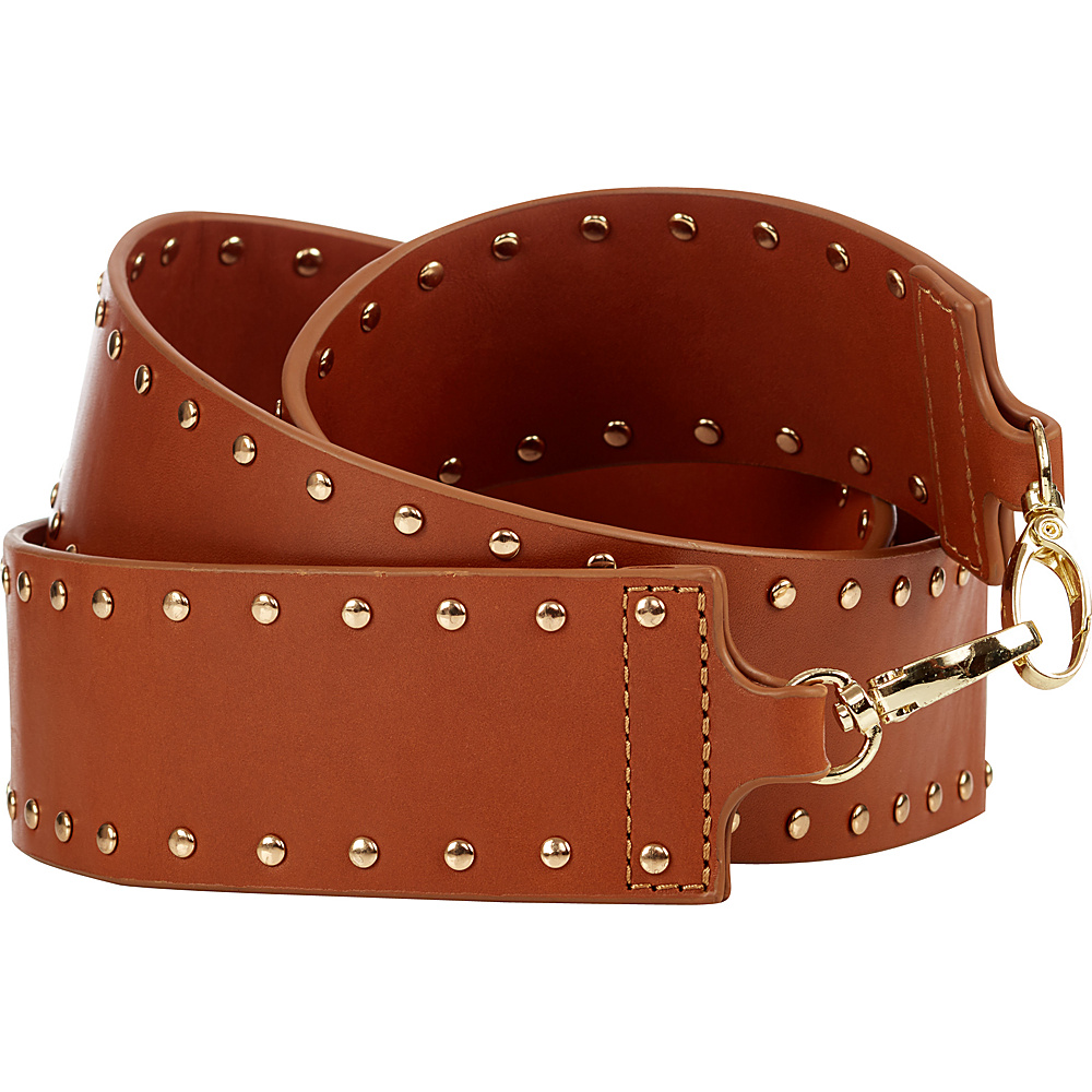 Davey s Handbag Guitar Strap Studs Brown Davey s Leather Handbags