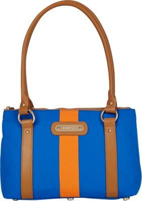 Davey's Small Stripe Tote Royal/Orange Stripe - Davey's Fabric Handbags