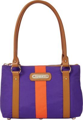 Davey's Small Stripe Tote Purple/Orange Stripe - Davey's Fabric Handbags