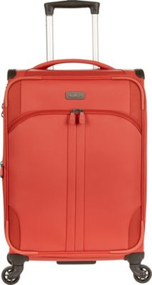 Antler Aire DLX 21 inch Carry On Spinner Tomato - Antler Softside Carry-On