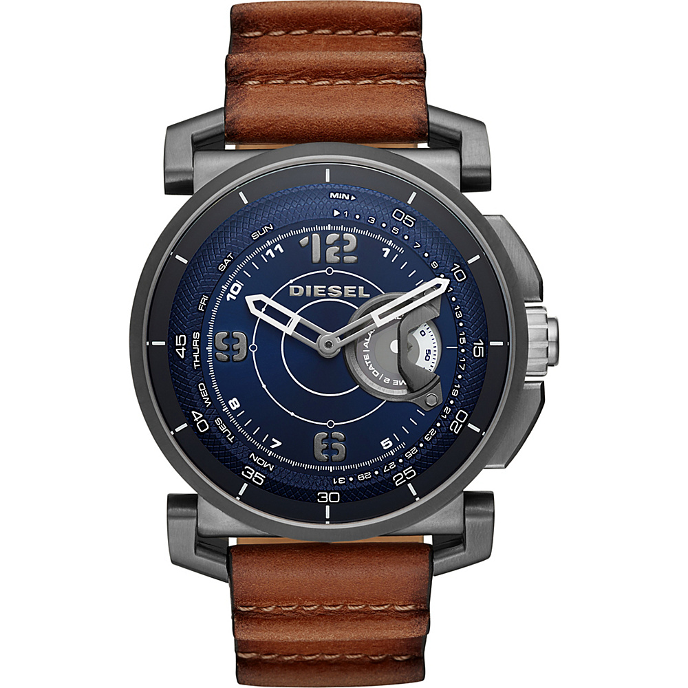 Diesel Watches On Time Hybrid Smartwatch Brown - Diesel Watches Wearable Technology