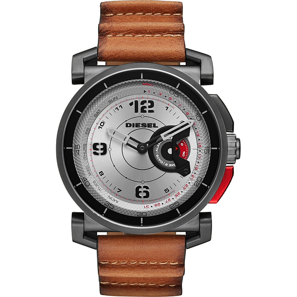 Diesel Watches On Time Hybrid Smartwatch Brown/Brown - Diesel Watches Wearable Technology