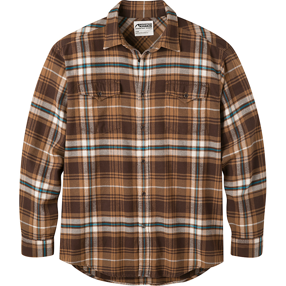 Mountain Khakis Teton Flannel Shirt S - Tobacco - Mountain Khakis Mens Apparel - Apparel & Footwear, Men's Apparel