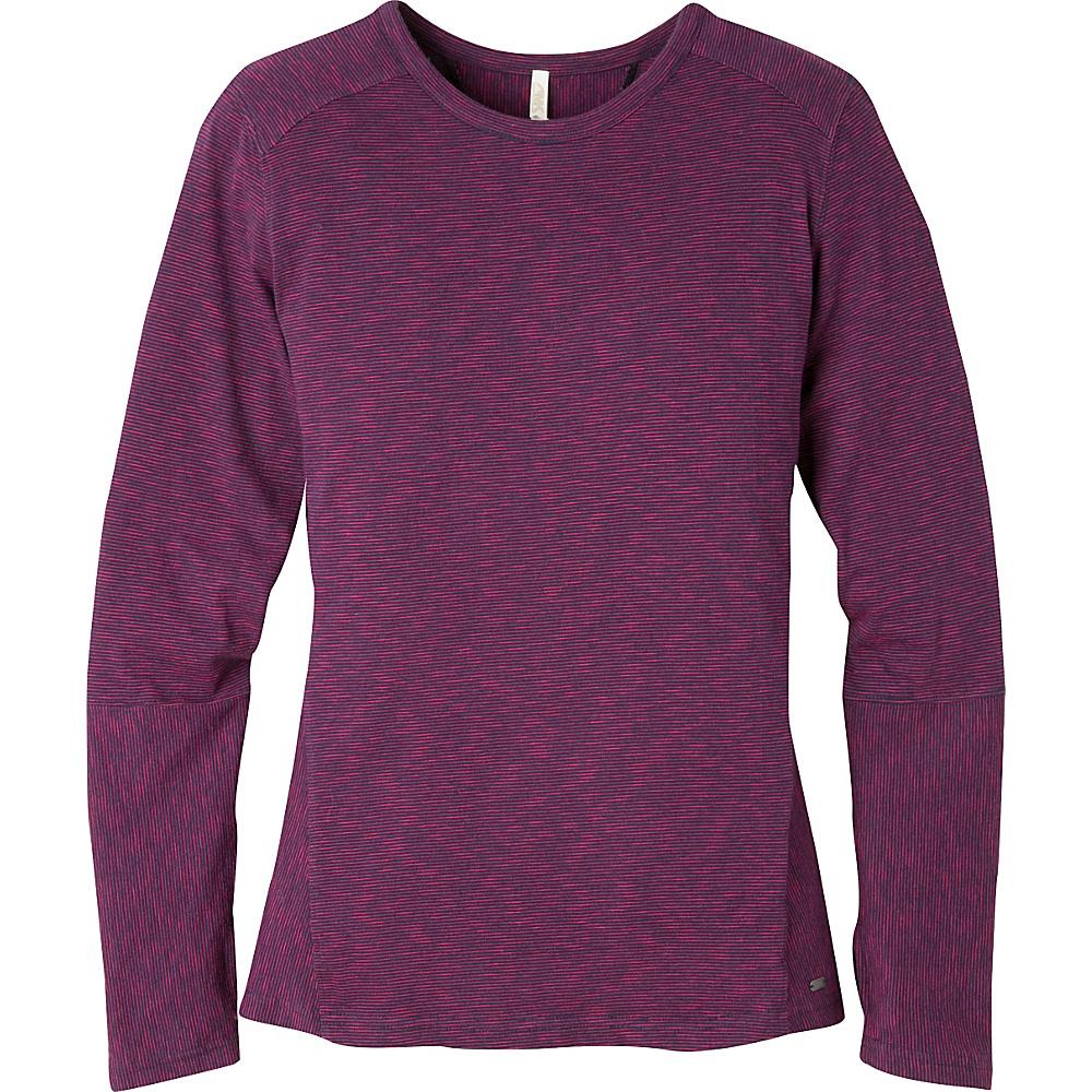Mountain Khakis Contour Crew Shirt XS - Iris/Sangria - Mountain Khakis Womens Apparel - Apparel & Footwear, Women's Apparel