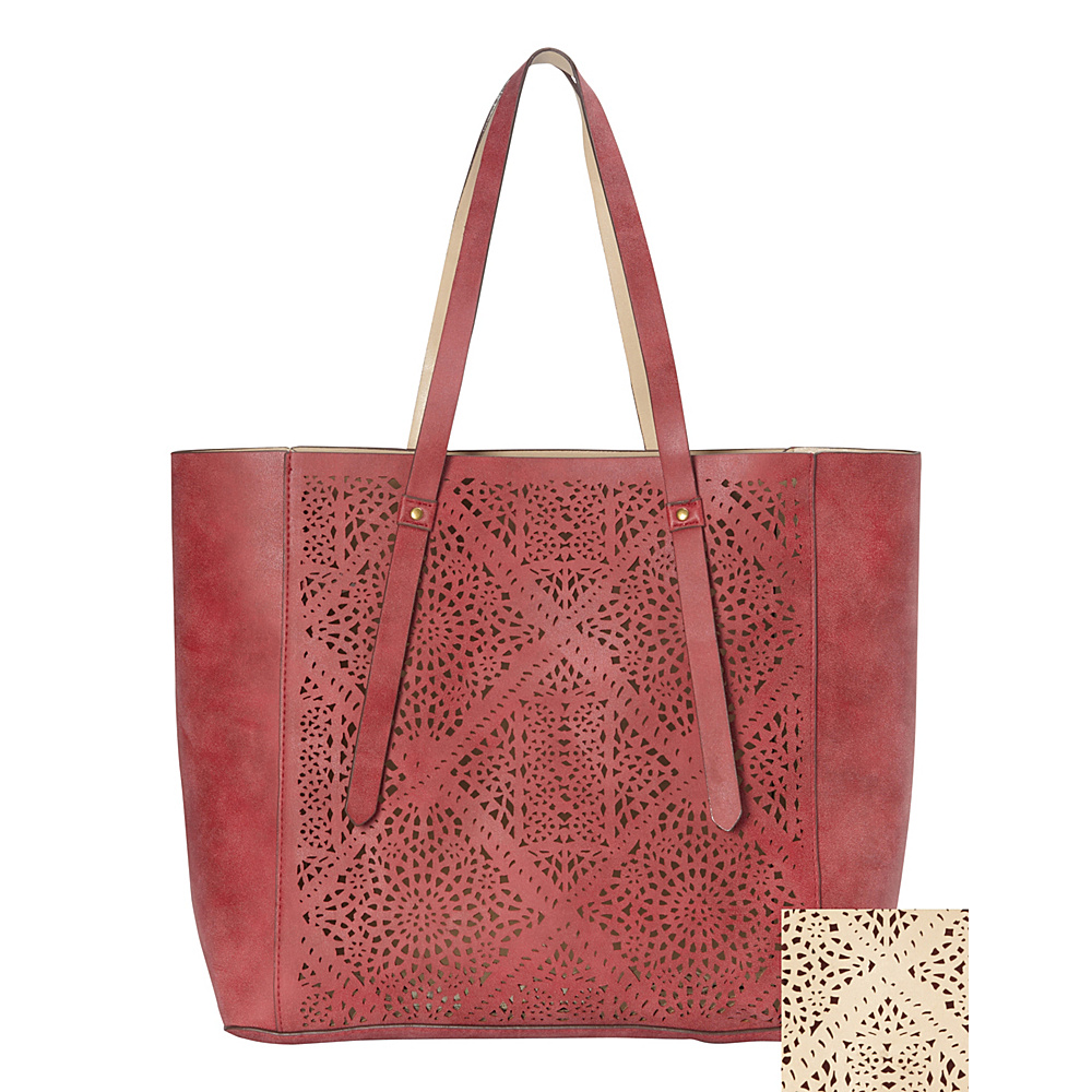 T shirt Jeans Perforated Tote Marsala T shirt Jeans Manmade Handbags