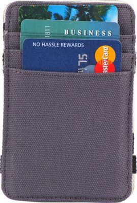 1Voice The Scholar RFID Blocking Canvas Magic Card Holder & Wallet Steel Blue - 1Voice Men's Wallets
