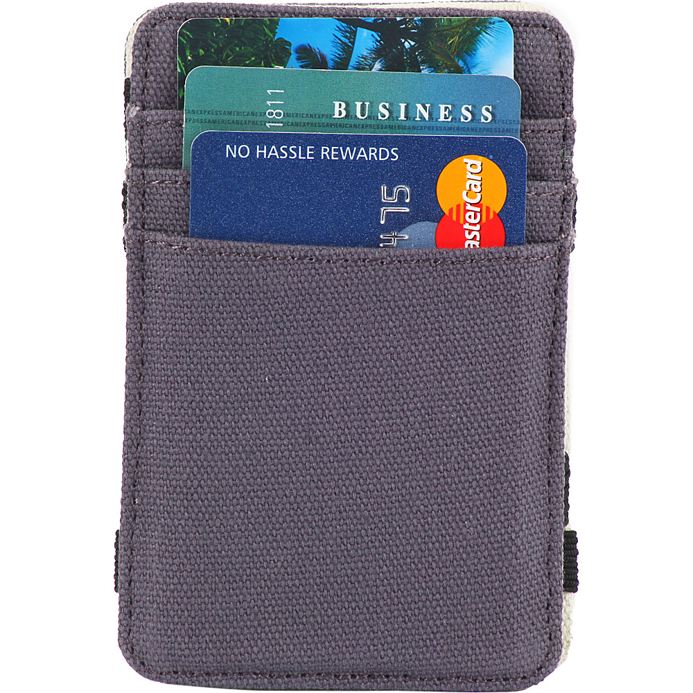 1Voice The Scholar RFID Blocking Canvas Magic Card Holder Wallet Steel Blue 1Voice Men s Wallets