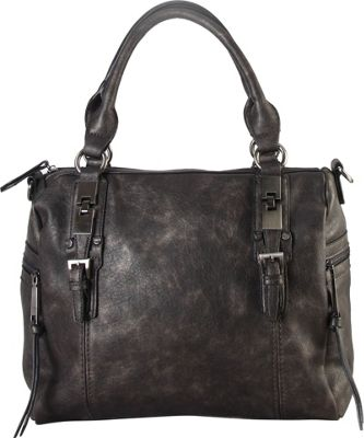 Diophy Double Side Pockets Casual Tote with Removable Long Strap Pwetwer - Diophy Manmade Handbags