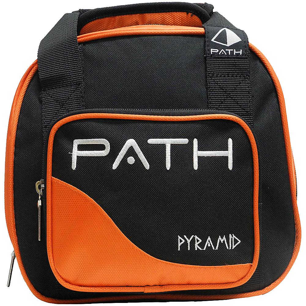 Pyramid Path Plus One Spare Ball Tote Bowling Bag Orange Pyramid Bowling Bags