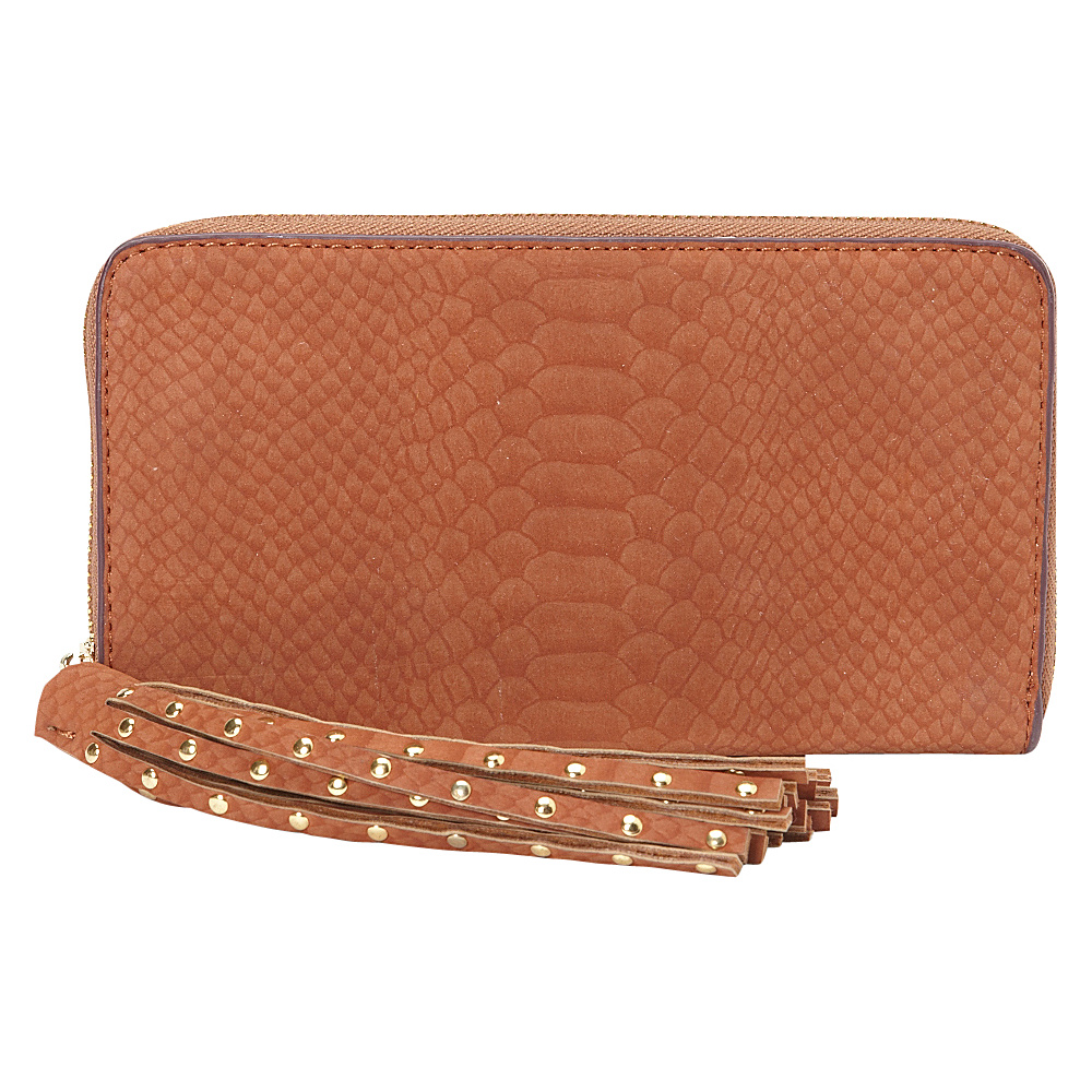 deux lux Juniper Zip Wallet Cognac deux lux Women s Wallets