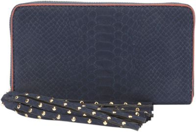 deux lux Juniper Zip Wallet Navy - deux lux Women's Wallets