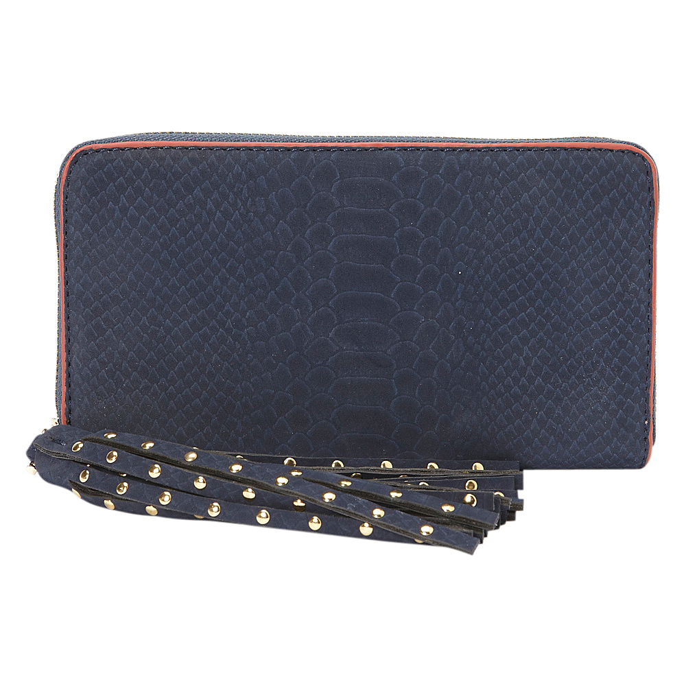 deux lux Juniper Zip Wallet Navy deux lux Women s Wallets