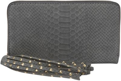 deux lux Juniper Zip Wallet Charcoal - deux lux Women's Wallets