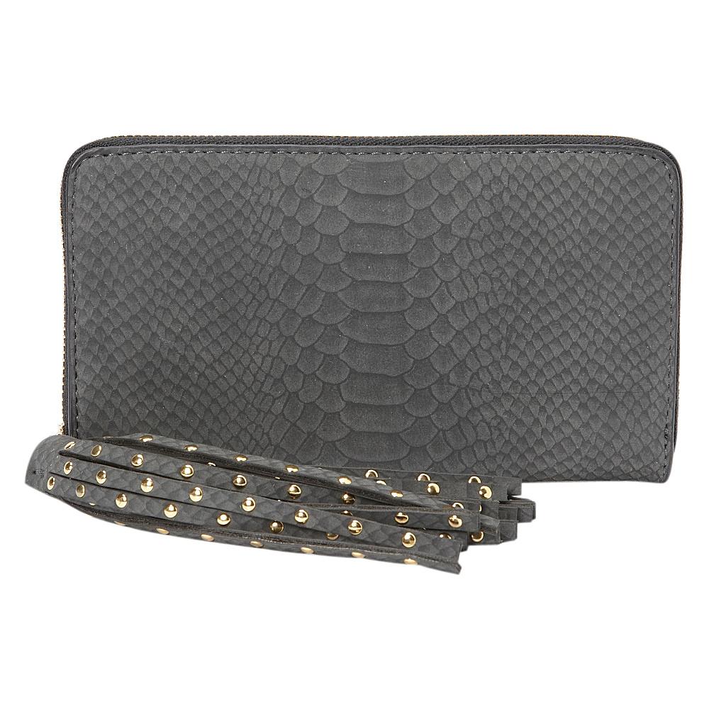 deux lux Juniper Zip Wallet Charcoal deux lux Women s Wallets