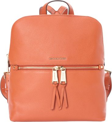 MICHAEL Michael Kors Rhea Zip Medium Slim Backpack Orange - MICHAEL Michael Kors Designer Handbags