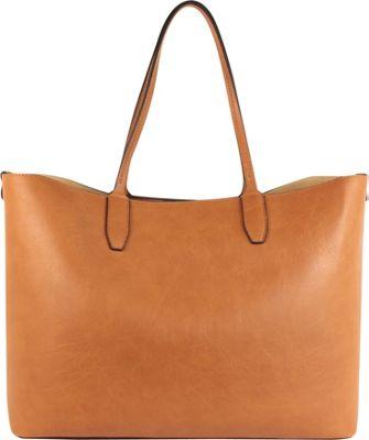 Emilie M Loren Large Double Shoulder Cognac - Emilie M Manmade Handbags