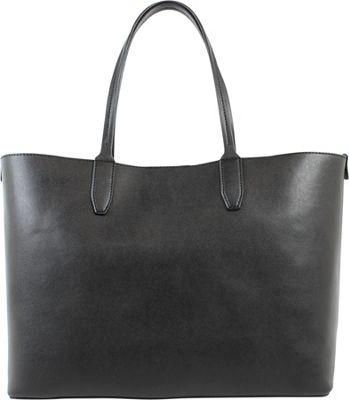 Emilie M Loren Large Double Shoulder Black - Emilie M Manmade Handbags