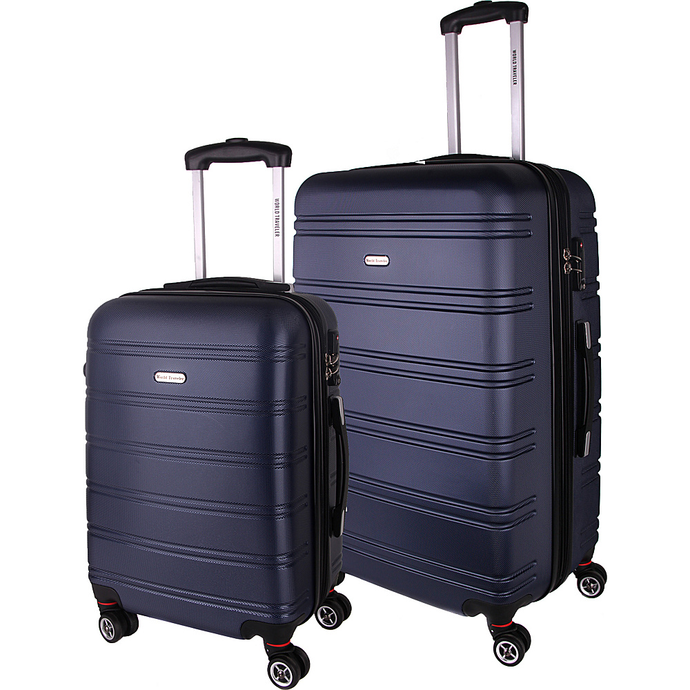World Traveler Bristol II 2-Piece Hardside Spinner Luggage Set Blue - World Traveler Luggage Sets - Luggage, Luggage Sets