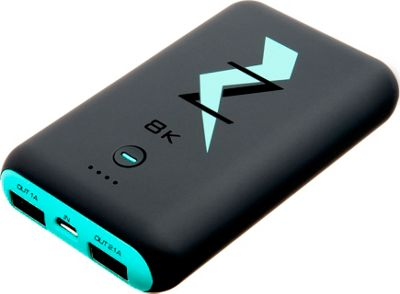 Zunammy Z Bank 8,000 mAh Dual Charge Rounded Base Powerbank Portable Charger Turquoise - Zunammy Portable Batteries & Chargers