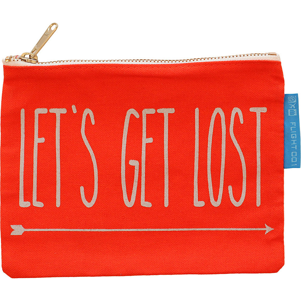 Flight 001 Let s Get Lost Canvas Pouch Orange Flight 001 Travel Organizers