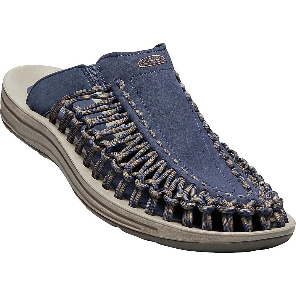 KEEN Mens UNEEK Slide 8.5 - Dress Blues/Canteen - KEEN Mens Footwear - Apparel & Footwear, Men's Footwear
