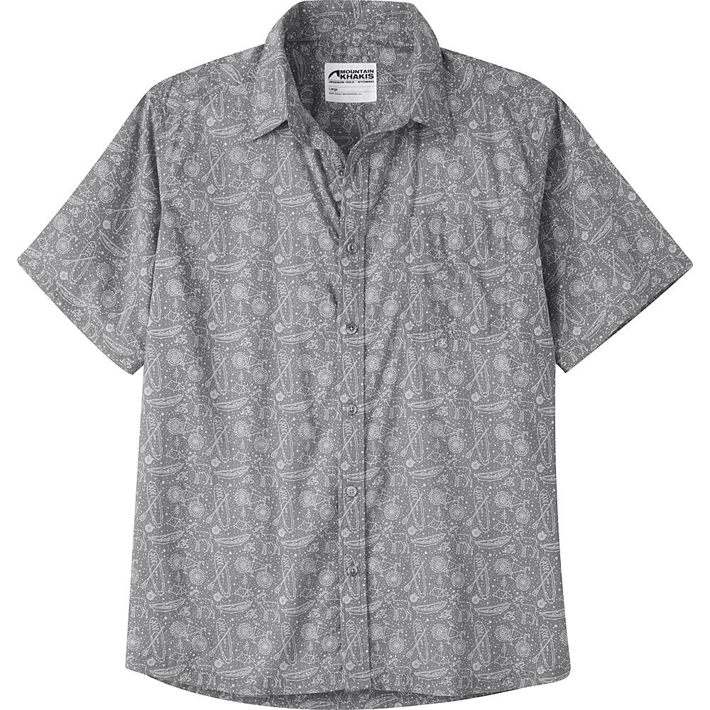 Mountain Khakis Zodiac Signature Print Shirt M - Gunmetal - Mountain Khakis Mens Apparel - Apparel & Footwear, Men's Apparel