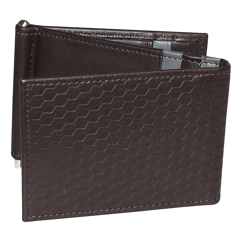 Buxton Bellamy RFID Z-Fold Wallet with Money Clip Brown - Buxton Mens Wallets - Work Bags & Briefcases, Men's Wallets
