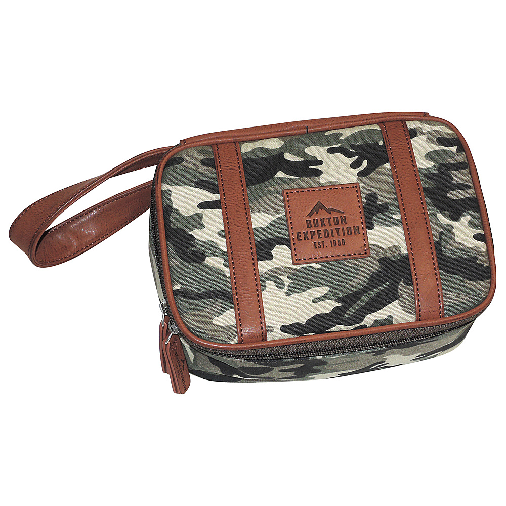 Buxton Expedition II Huntington Gear Top Zip Travel Kit Camouflage - Buxton Toiletry Kits - Travel Accessories, Toiletry Kits