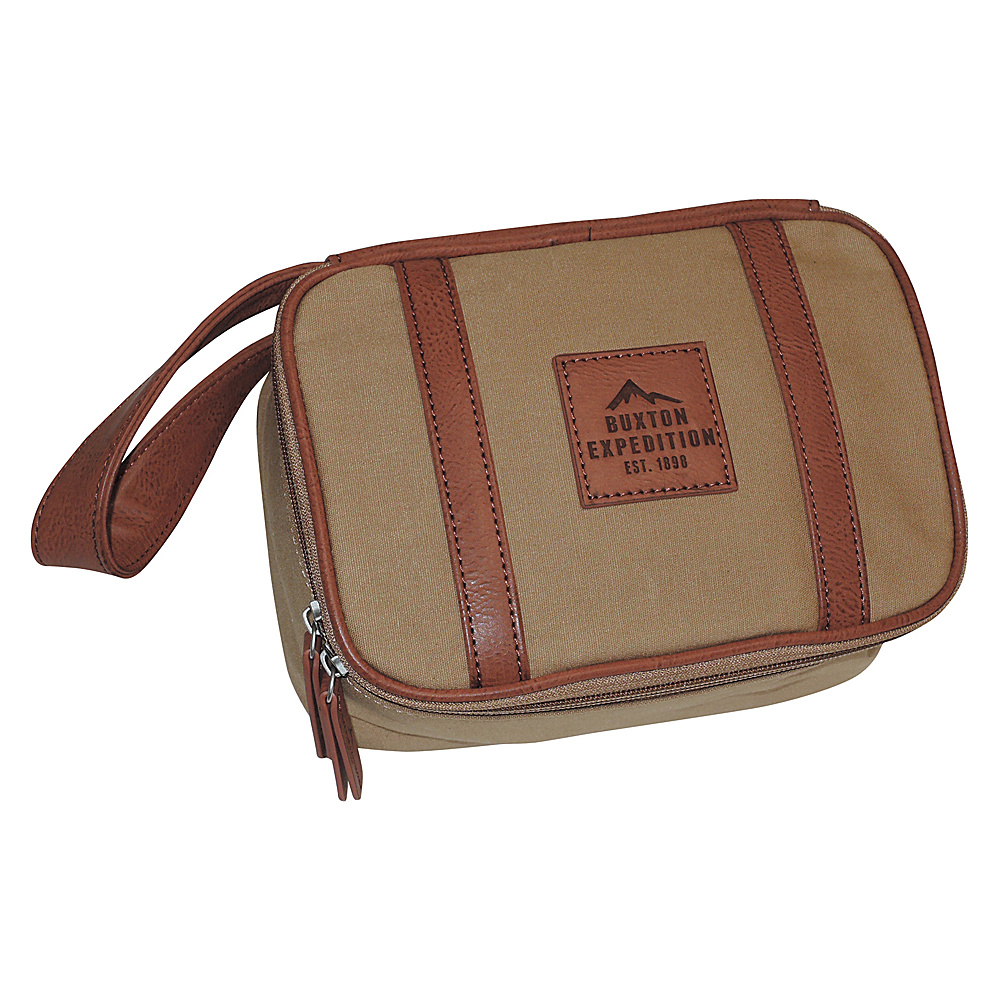 Buxton Expedition II Huntington Gear Top Zip Travel Kit Tan - Buxton Toiletry Kits - Travel Accessories, Toiletry Kits