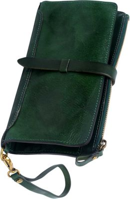 Old Trend Casey Clutch Green - Old Trend Leather Handbags
