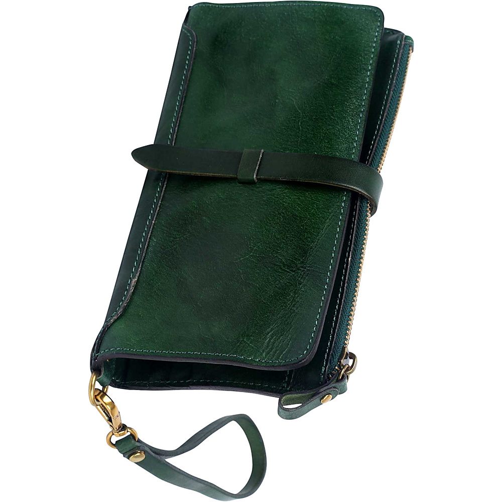 Old Trend Casey Clutch Green Old Trend Leather Handbags