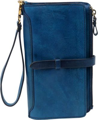 Old Trend Casey Clutch Navy - Old Trend Leather Handbags