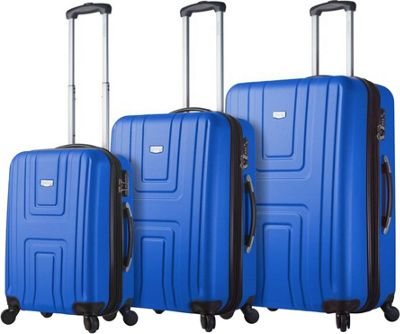 Mia Viaggi ITALY Ferrara Hardside 3 Piece Spinner Set Blue - Mia Viaggi ITALY Luggage Sets