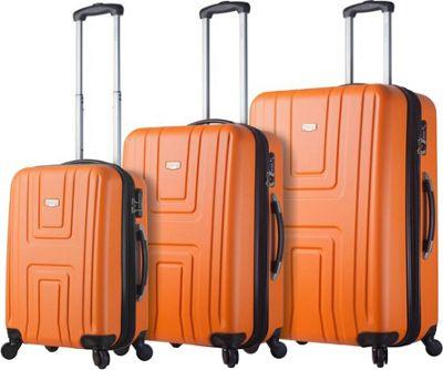 Mia Viaggi ITALY Ferrara Hardside 3 Piece Spinner Set Orange - Mia Viaggi ITALY Luggage Sets